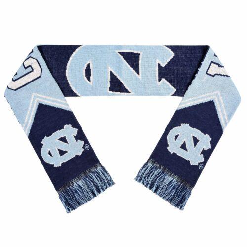 North Carolina Tar Heels NCAA College Reversible Stripe Acrylic Scarf Knit NEW