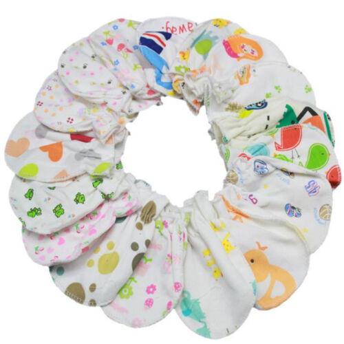 10Pairs Newborn Boy Girl Infant Soft Cotton Handguard Anti Scratch Mitten Gloves