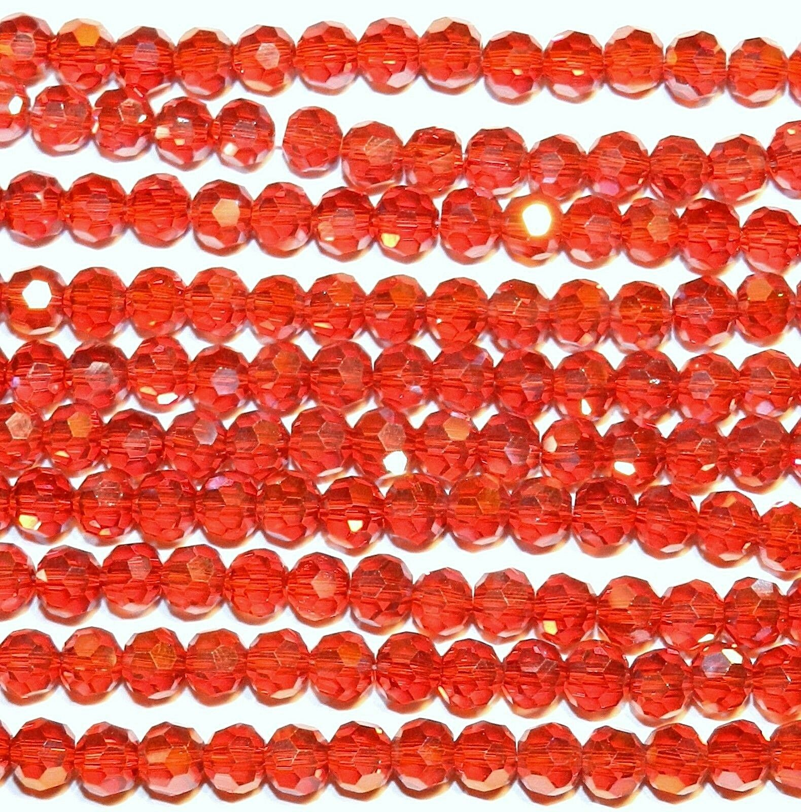 6mm Ruby Red beads