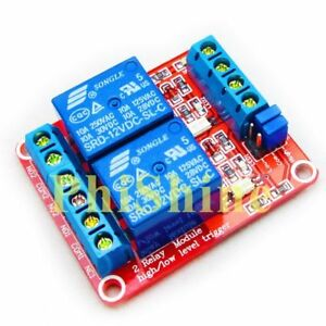 12 V 2 Channel Relay Module With Optocouple Support High Low Level Trigger-afficher Le Titre D'origine A3mxwbvn-07225158-692337453