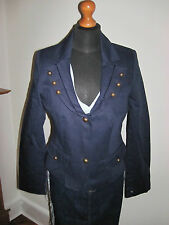 LOUIS CHARLES MILITARY NAUTICAL blazer JACKET COAT UK 12 NAVY steampunk