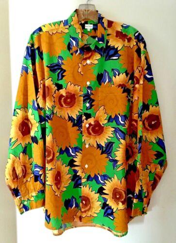 katoenen 100 met Paul 2xl zonnebloemprint mouwen trillende Smith London lange shirt CECngtq