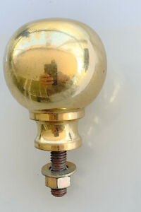 """solid Brass BED KNOB 3/"""" old style COT hollow heavy polished 7.5cm BALL watson B4"""