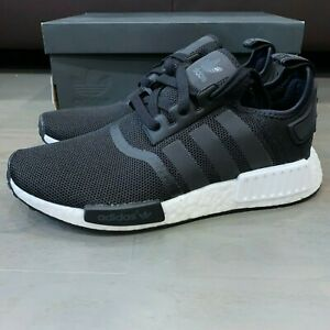 Adidas Nmd R 1 Core Black White Reflective S80206 Kids Size 7 New