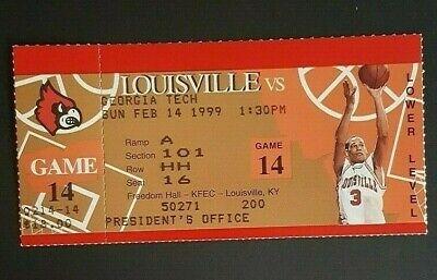 Louisville Vs Georgia Tech Nba Basketball Ticket President Office Valentine Day Ebay