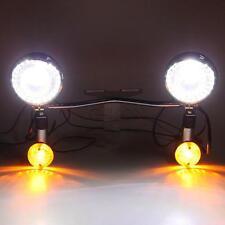Motorcycle Driving Passing Signals Fog Spot Light Bar For Honda Yamaha Cruiser