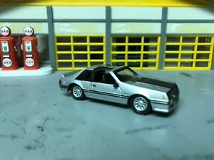 1 64 1982 Mustang Gt T Tops Silver Blk Int 5 0 4 Speed Alloy