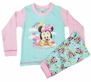 7b36e44da Baby Girls Minnie Mouse My Little Dream Long Length Pyjama Set 6 to ...