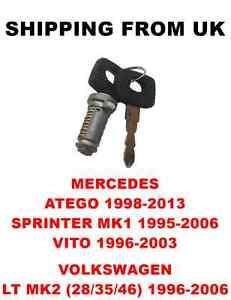 IGNITION-SWITCH-BARREL-2-KEYS-for-MERCEDES-ATEGO-SPRINTER-MK1-VITO-VW-LT-MK2
