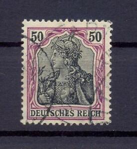DR-91-Iy-Germania-50-Pfg-auf-orangeweiss-gestempelt-geprueft-ts289