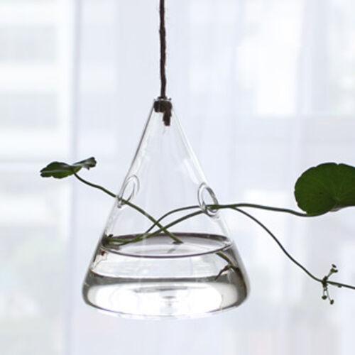 1pc Clear Flower Hanging Vase Planter Terrarium Container Glass Home Party Decor