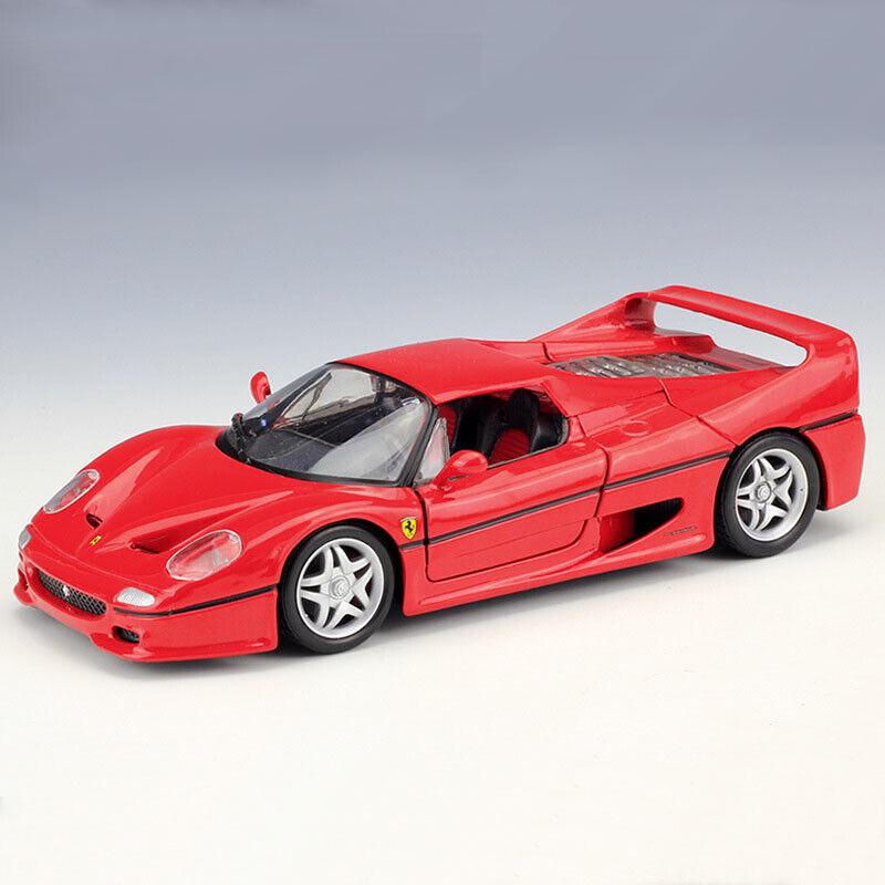 Bburago 1 24 skala Ferrari F50 röd Super samlaible Mode Sports bil tärningskast leksak