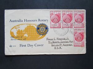 Australia-SG-281-x4-on-Rotary-Cachet-First-Day-Cover-Light-Creases-Z4051