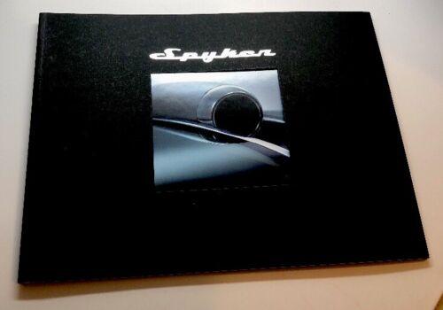 Spyker Information Booklet