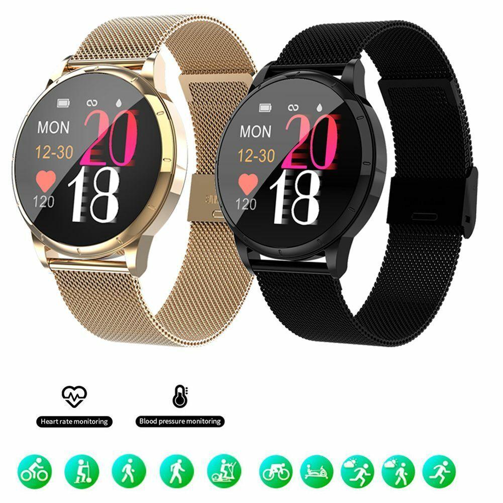 Men Heart Rate Monitor Fitness Tracker Smart Watch Stainless Steel Wristband New Featured fitness heart men monitor rate smart stainless steel tracker watch
