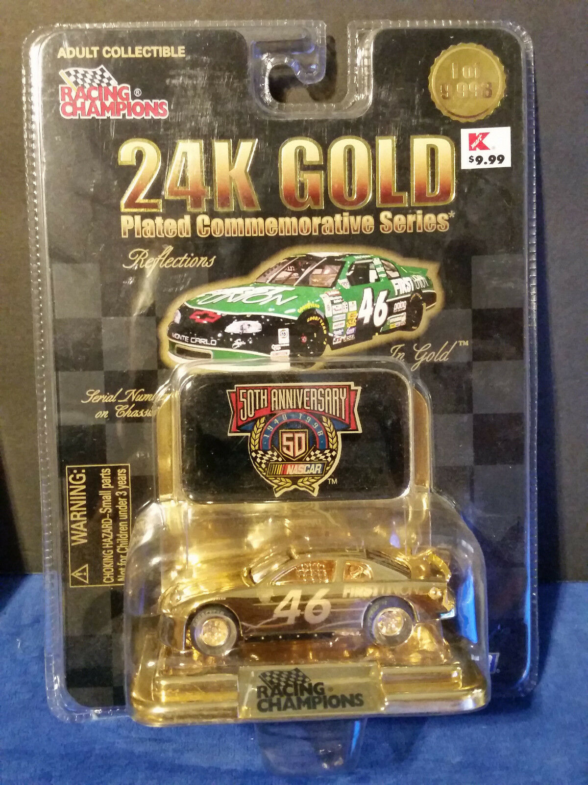 Racing Champions 24K gold Reflections First Union