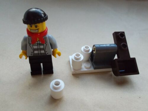 SNOW FIRING CATAPULT LEGO CITY WINTER SCENE CROOK SNOW SHOOTER ROBBER BAD GUY