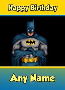 Personalised Birthday Card Childrens Boys Son Brother Grandson Lego Batman