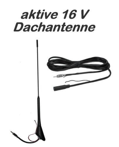 aktive Dachantenne 16V-Design 60 Grad inkl 450cm Kabel mit Schaltlitze