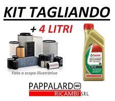 KIT 4 FILTRI TAGLIANDO + OLIO CASTROL 5W30 VW POLO IV 1.4 TDI DAL 2005 AL 2009