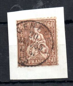 Switzerland-1862-60c-SG59-fine-CDS-used-on-paper-WS11337