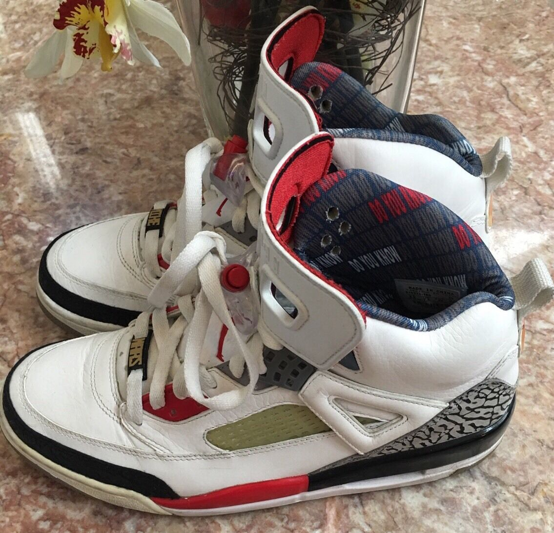 Nike Jordan Spizike - Men's White/fire red-black Sneakers Sz 8.5 - Spizike 315371-165 EUC 969738