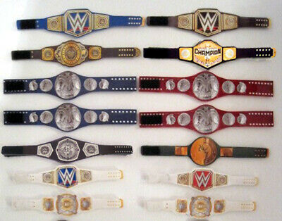 5 Impact Unofficial Custom Red 2020-2021 Wrestling Figure Belts