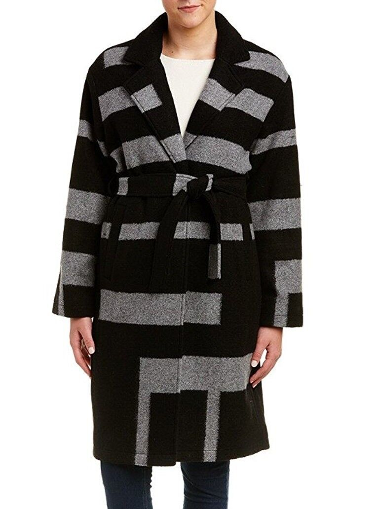 NWT Trina Turk Wool Blend Graphic Pattern Coat Size 10
