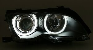 Lampen Bmw E46 : Led angel eyes scheinwerfer set für bmw e46 limousine touring ccfl