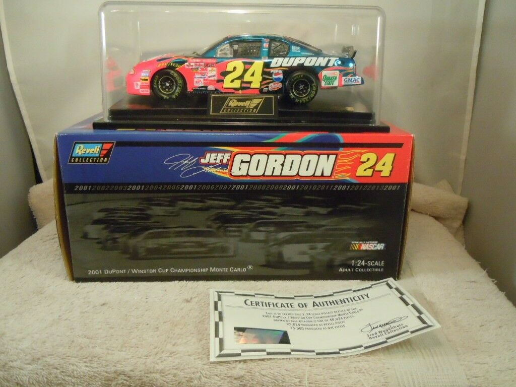 2001 REVELL  24 JEFF GORDON DUPONT WINSTON CUP 1 24 DIECAST auto W  scatola