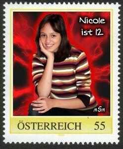 U) Personalized stamp girl s birthday NICOLE is 12 AUSTRIA 2009 - Altenmarkt-Thenneberg, Österreich - U) Personalized stamp girl s birthday NICOLE is 12 AUSTRIA 2009 - Altenmarkt-Thenneberg, Österreich