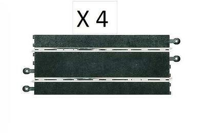 4 Gerade Für Scalextric Analog , Schwarz Neu 350mm 1/32 News Chills And Pains