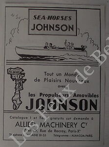 Publicite-Sea-Horses-Johnson-propulseur-amovible-Allied-Machinery-1932-advert