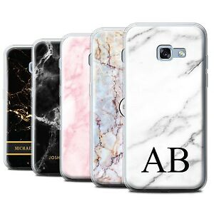 low priced a4248 6647d Details about Personalised Marble Gel Case for Samsung Galaxy A3  (2017)/Initial Custom Cover