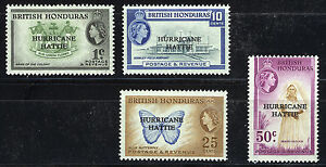 BRITISH-HONDURAS-1962-RELIEF-FUND-BLOCKS-OF-4-MNH