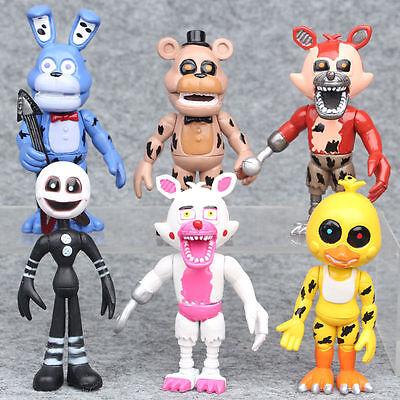 Five Nights at Freddy/'s set 6 Nightmare Action Figure personaggi statuette Foxy