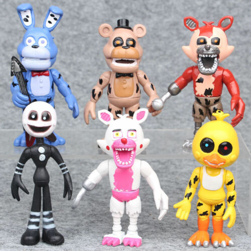 "6PCS Five Nights at Freddy/'s 4/"" FNAF Action Figures Collection Toy Freddy Chica"