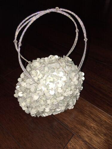 Borsa cinturino perline argento cinturino paillettes clutch piccola nera con con glitter ZZrg4vq