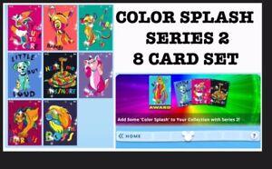 COLOR-SPLASH-SERIES-2-SET-8-CARDS-TOPPS-DISNEY-COLLECT-DIGITAL