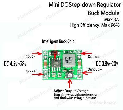 DC-DC 3A 3.3V 5V 6V 9V 12 Buck Step-down Converter Adjustable Voltage Regulator