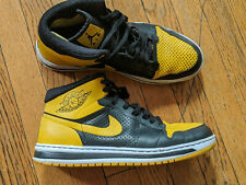 Nike Air Jordan Alpha 1 Love Black Yellow High Tops Size 11