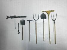 Hausser Elastolin Zubehör für alte Massesoldaten 7.5cm LMG Säbel Arbeitsgeräte