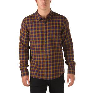 e81569862f Vans ALAMEDA II Mens Button Front Long Sleeve Shirt Medium Port ...