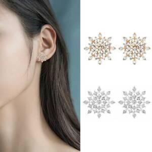 Fashion-925-Silver-Glitter-Christmas-Snowflake-Ear-Stud-Earrings-Snow-Jewelry