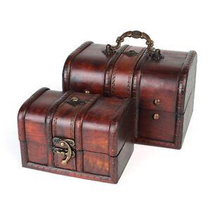 Retro-Wooden-Lock-Jewelry-Necklace-Storage-Box-Trinket-Container-Holder-Case-Set