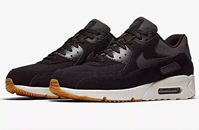 Nike Air Max 90 Ultra 2.0 Leather Black Light Bone Uk Size 7 924447 003 | eBay