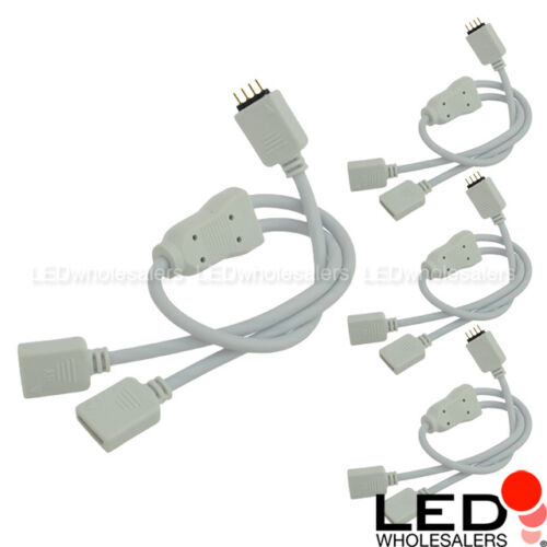4-Pack 4-Pin Splitter for RGB Color-Changing Flexible LED Strips