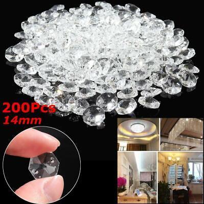 15pcs K9 Crystal Chandelier Clear Glass Droplet Ceiling Lightings Pendant Decor