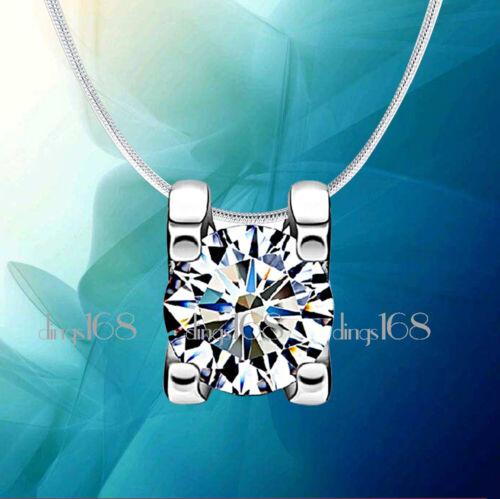 Argent Sterling 925 Nickel//sans plomb cristal Pendentif Chaîne Collier Sautoir Set H717