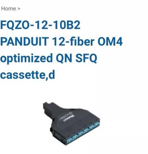 Panduit Quick Net MPO-LC break out Cassette P//N FQZO-12-10B2